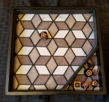 Geometric Dice Tray